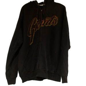Vintage SF Giants zip up black hoodie jacket